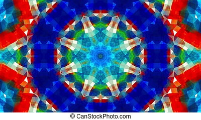 colorful kaleidoscopic background - Loopable video 3840x2160...