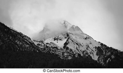 Snow-covered mountain peak - Video 1920x1080 - Snow-covered...