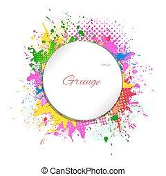 grunge frame - Abstract background, grunge frame, vector...