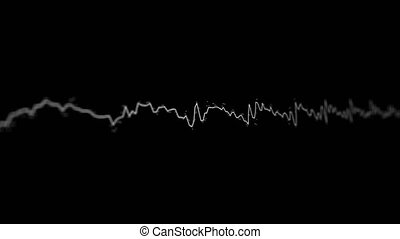 Acoustic waves on the screen - Loopable video 4096x2304 -...