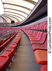 Sports Stadium Seating - Rows of seating in a sports stadium...