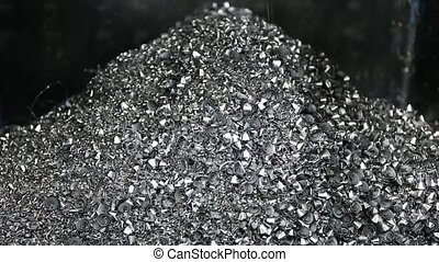Chip conveyor moving steel scrap Chip conveyor convey scrap...