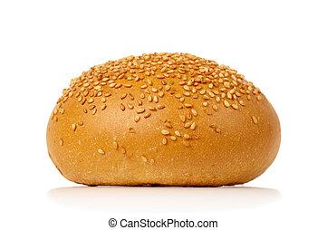 One sesame bun