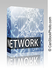 Network illustration box package