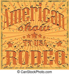 Retro American rodeo background. Vector illustration EPS 10