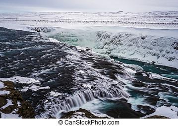 Gullfoss, Iceland - Gullfoss falls, Iceland