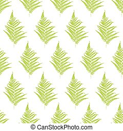 Fern frond silhouettes seamless pat