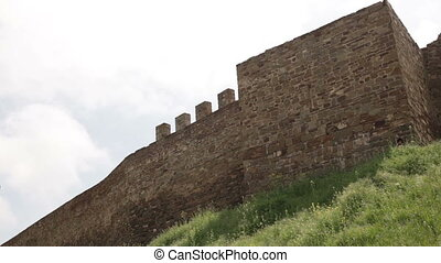 the walls of ancient fortress - the walls of the ancient...