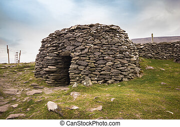 Ireland Hut - Ancient Beehive hut from County Kerry along...