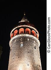 Galata Tower in Beyoglu, Istanbul City, Turkey