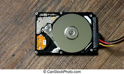 HDD is broken and open - HDD - A Hard Disk Drive is open,...