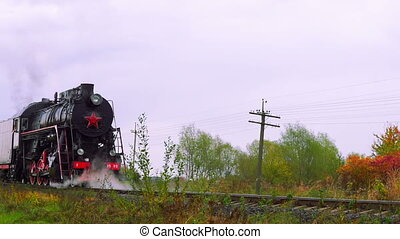 Old Steam Moves - Old Steam Locomotive is Moving Backwards