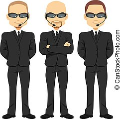 Bodyguards Men Team - Bodyguards men team working in...