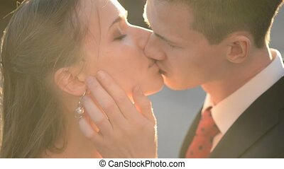 Newly married couple - Newly married young couple about...