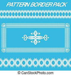 White Pattern Border Pack
