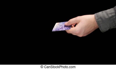 The Buyer Paid by Credit Card and Receives a Bag 1