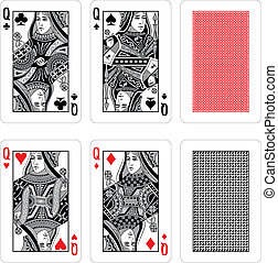 Vector Playing Cards - fully editable vector illustration...