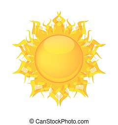 yellow sun vector - yellow sun on the white background...