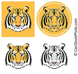 Tiger head. Vector illustration
