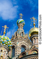 St Petersburg, Russia, Orthodox Church Spas at blood