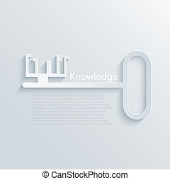 vector modern light key to knowledge background