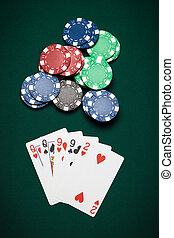 Poker hand Two-pair - Poker hand of five cards of Two-pair...