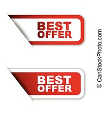 red set vector paper stickers best offer