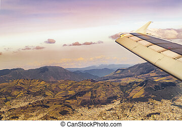 Window Plane View of Andes Range Mountains