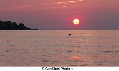 Sea Sunrise View Bulgaria - Beautiful sea sunrise view with...