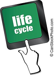 life cycle on laptop keyboard key