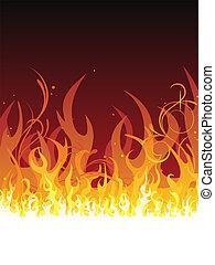 火,  -, 炎