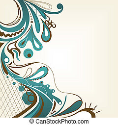 abstract design - illustration of an abstract colorful...