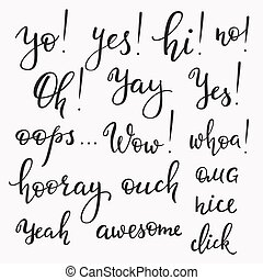 Exclamation words set - Lettering photography overlay set....
