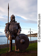 Viking Warrior Effigy at Largs Scotland - Metal Viking...