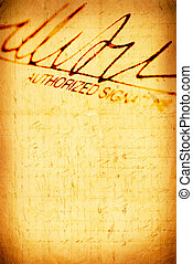 Signature - Close up of Signature with document