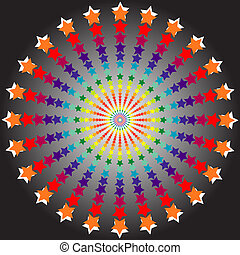 optical illusion - abstract desgin with geometric shapes...