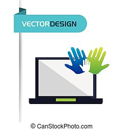 computer hardware design - computer hardware design, vector...