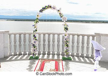 Wedding arch on white background