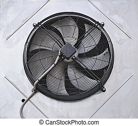 Industrial fan in the wall