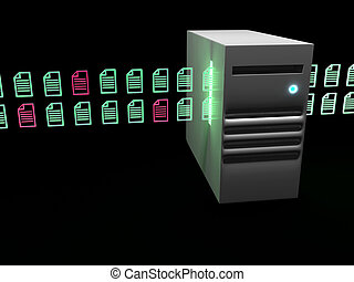 Data transfer concept 3d render