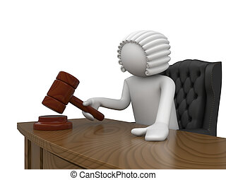 Mr Judge - 3d characters isolated on white background series...