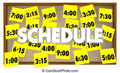 Schedule Appointments Meetings Reminders Overbooked Sticky Notes