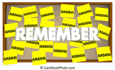 Reminder Sticky Notes Remember Important Meeting To Do List