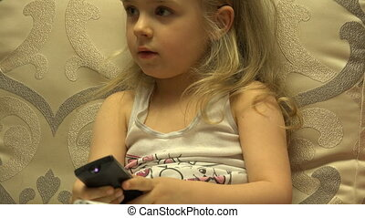 Intelligent Little Girl Press Remote Control, Channel...