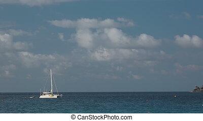 Seascape with Catamaran - Catamaran near Koh MiangSimilan...