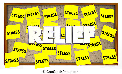 Stress Relief Sticky Notes Bulletin Board Help Calm
