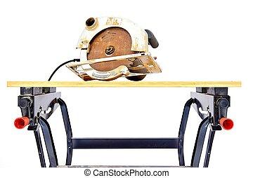 Work Bench Sawhorse - An industrial work bench
