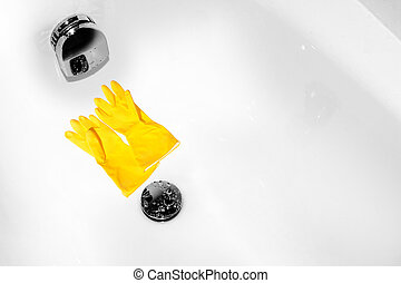 Crystal clean bath - gloves off - Bath is tidy and clean -...