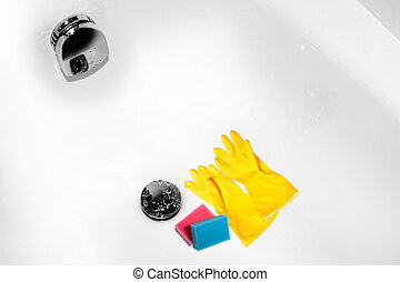 Cleanness represented by a close up view of a bright cleaned...