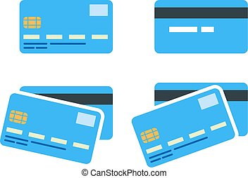 bank card - Set of flat bank cards
